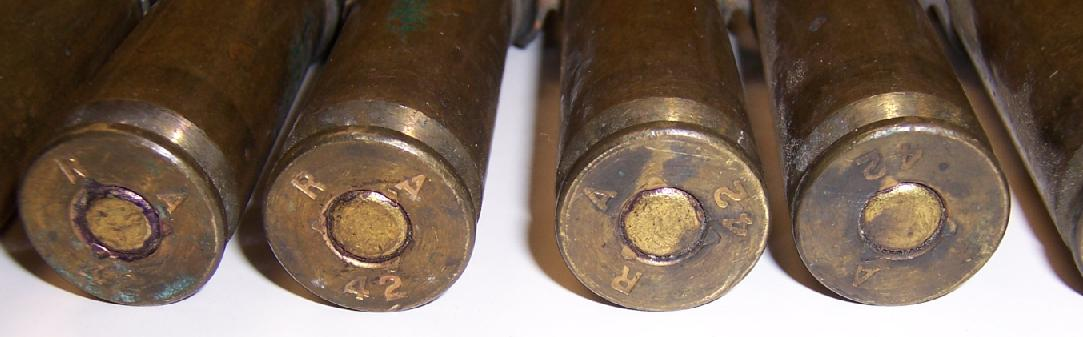 WWII 50 Caliber Headstamps